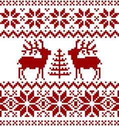 Christmas Norwegian pattern vector