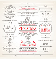 collection elegant christmas labels vector image