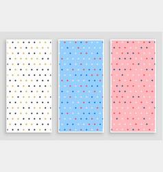 elegant small circle polka pattern banners set vector image