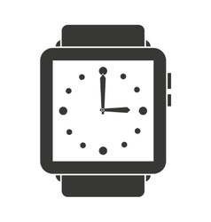 Elegant wristwatch isolated icon design vector
