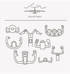 Equipment for transport driving logo set aircraft vector