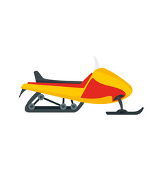 Expedition snowmobile icon flat style vector