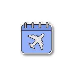 flight date patch vector image