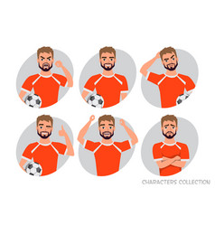 Footballer character constructor soccer player vector