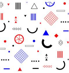 geometric flat memphis pattern vector image