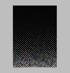 Geometrical dot pattern page background template vector