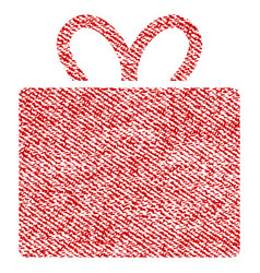 gift fabric textured icon vector image vector image