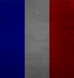 Grunge messy flag france vector