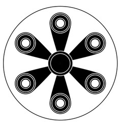 hand spinner with six blades vector image