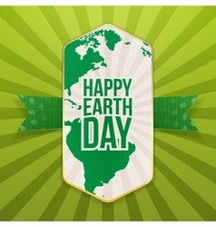 Happy Earth Day realistic paper Banner Template vector image