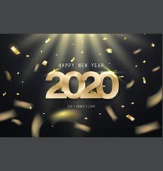 Happy new year 2020 background design vector