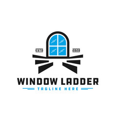home window staircase logo vector image