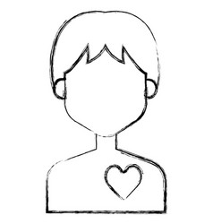 human figure with heart vector image