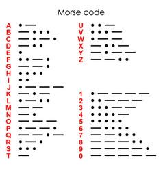 International morse code vector