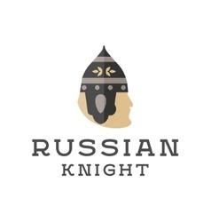 Knight head armor helmet face vector