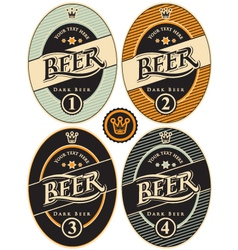 Label beer vector