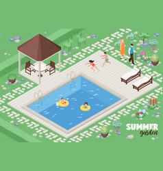 Landscape design poster vector