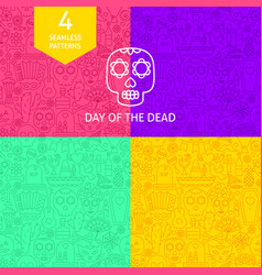 line day dead patterns vector image