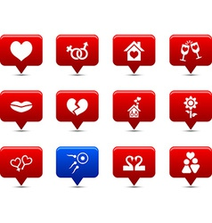 Love buttons vector
