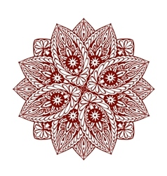 Mandala Decorative ethnic floral ornament vector image