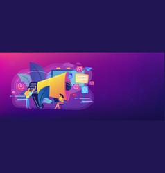 marketing concept banner header vector image