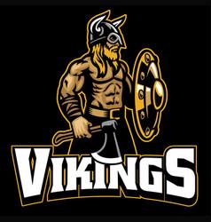 mascot viking warrior vector image