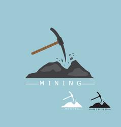 mining logo concept vector image