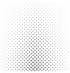 Monochrome star pattern - geometrical halftone vector