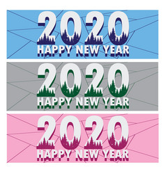 new year web banner bundle template vector image