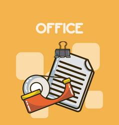 Office elements cartoons vector