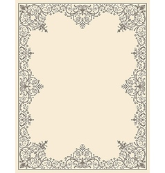 Ornamental frame vintage vector