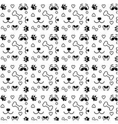 pattern dog lover vector image
