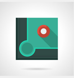 Pool game flat color icon vector