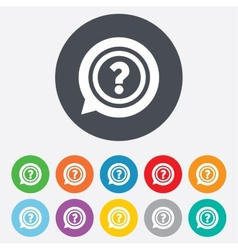 Question mark sign icon Help symbol vector image