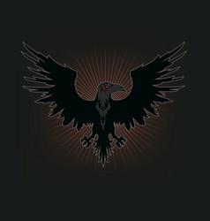 raven silhouette vector image
