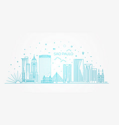 sao paulo city skyline background vector image