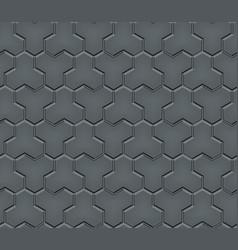 Seamless pattern trihex cobblestone pavement vector