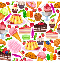 Seamless pattern with confectionery vector