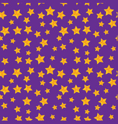 Seamless pattern with golden stars vector