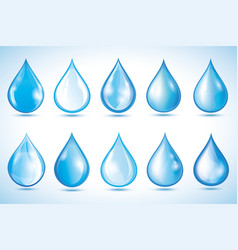 set of 3d water drop isolated vector image