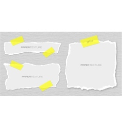 Set torn papers attached plasters vector