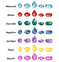 seven sets gems vector image