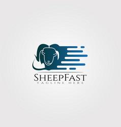 Sheep farm icon template creative logo design vector
