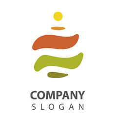 spa stone logo vector image