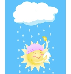 sun washes vector image