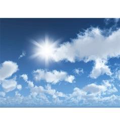 sunny blue sky 1405 vector image