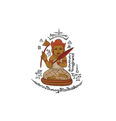 thai traditional painting in temple vector image