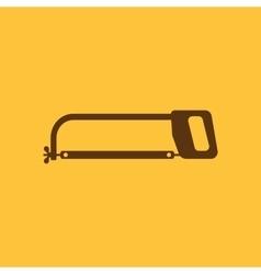 The hacksaw icon Hacksaw symbol Flat vector