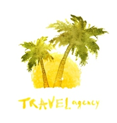Travel agency logo template vector
