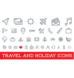 Travel icons set great for all purposes like vector